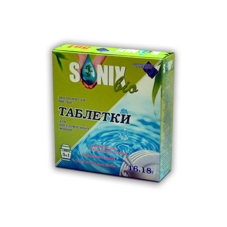 """Sonix Bio Таблетки для ПММ """"5 в 1"""", биоразлогаемые купить оптом"""