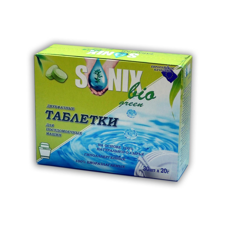 """Sonix Bio Green Таблетки для ПММ """"5 в 1"""", биоразлогаемые купить оптом"""