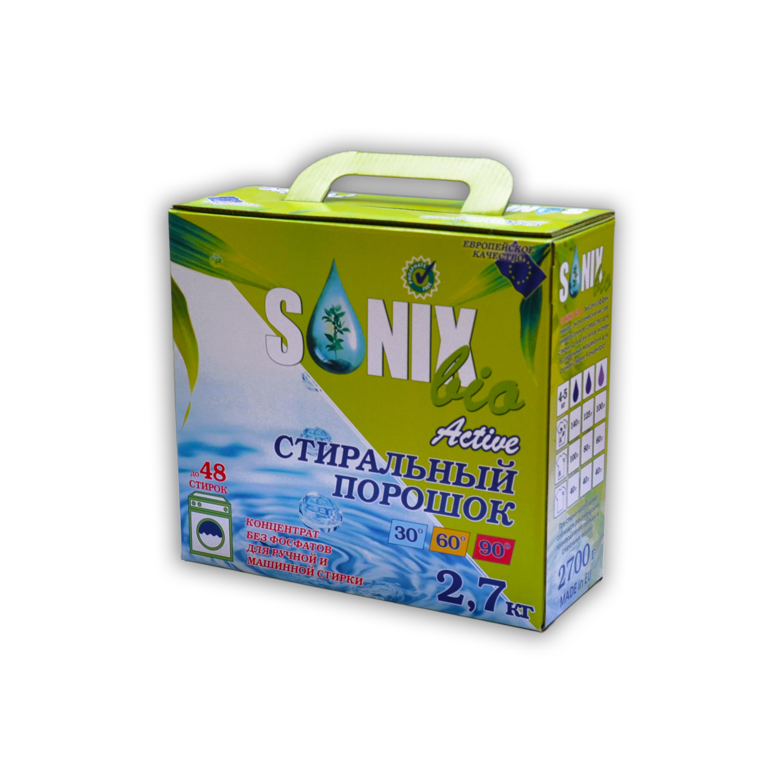 Sonix Bio Универсальный стиральный порошок с активной формулой удаления пятен купить оптом