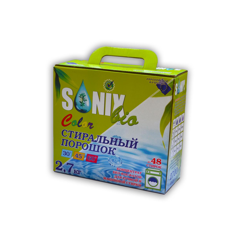 Sonix Bio Универсальный стиральный порошок с формулой сохранения цвета, для цветного белья купить оптом